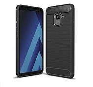 Чохол силіконовий TPU на Samsung A8+ Plus 2018 / A730 чорний