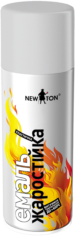 Жаростойкая аэрозольная краска NewTon 400г Серебристая