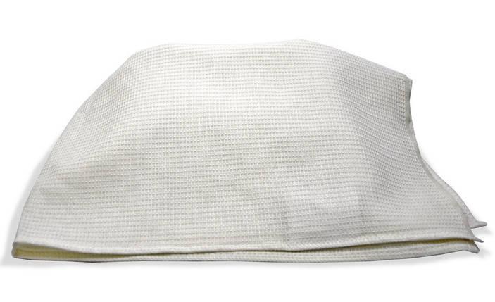 Полотенце хлопчатобумажное вафельное белое 75 см х 45 см, фото 2