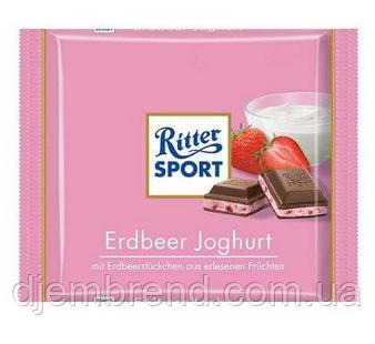 Шоколад Ritter Sport Риттер Клубника + йогурт, 100 г. Германия