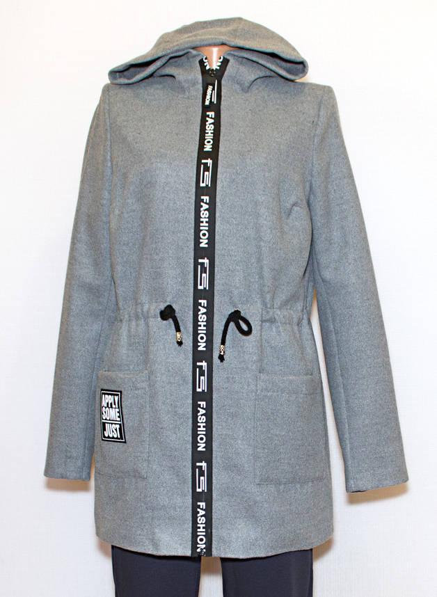 Куртка - кардиган весна осень 237 (серый)(44.48), фото 2