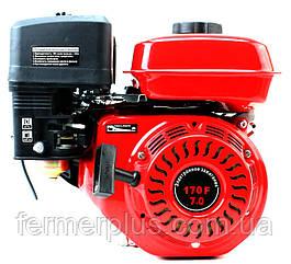 Двигатель бензиновый ТАТА YX170F (7 л.с., шлицы Ø25мм, L=36,5мм)
