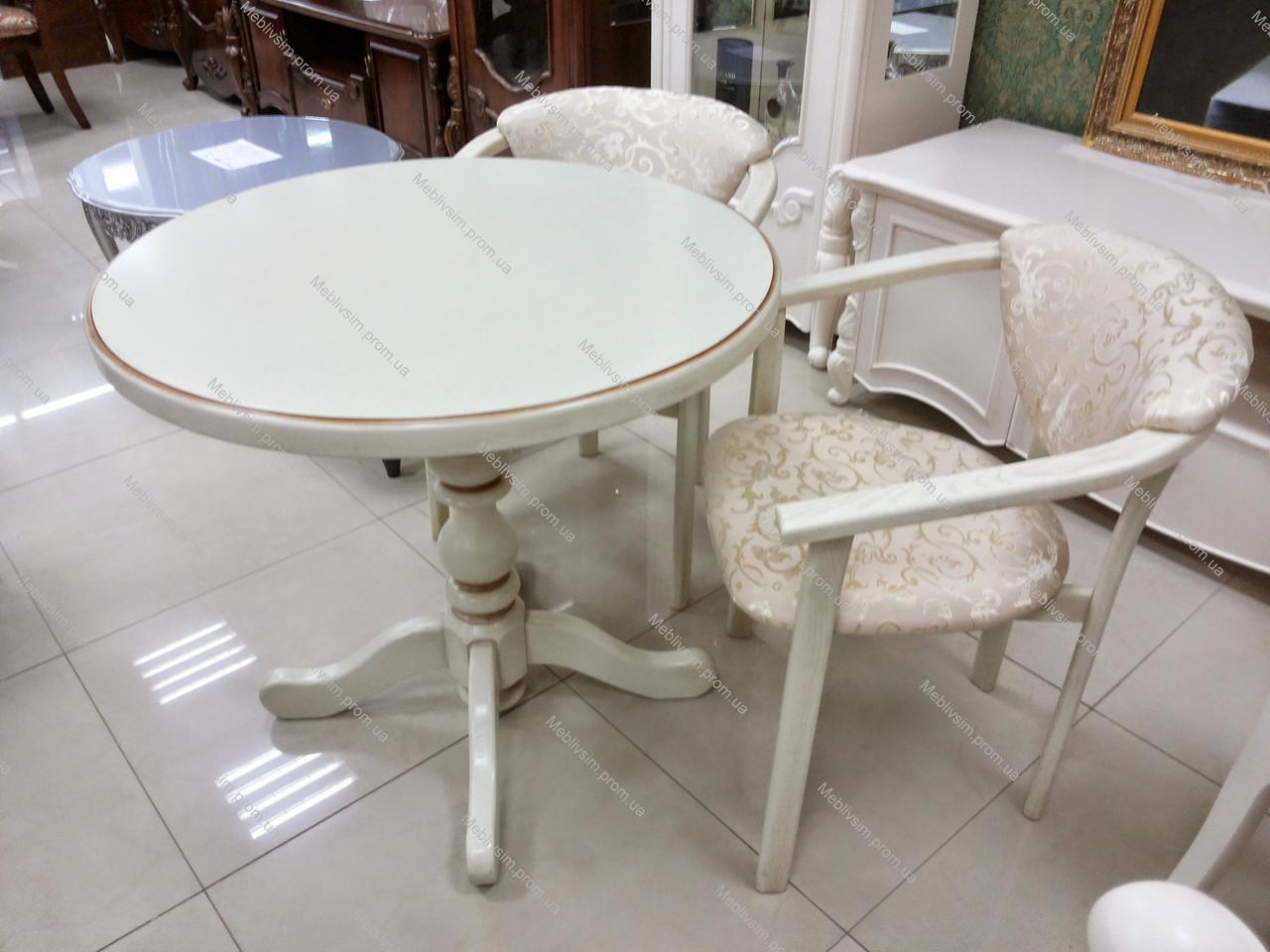 Стол обеденный круглый К-1 GOOD WOOD Рускополянский Мебельный Комбинат Явир