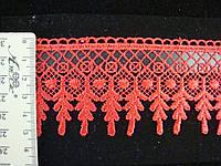 Кружево синтетическое красное, фото 1