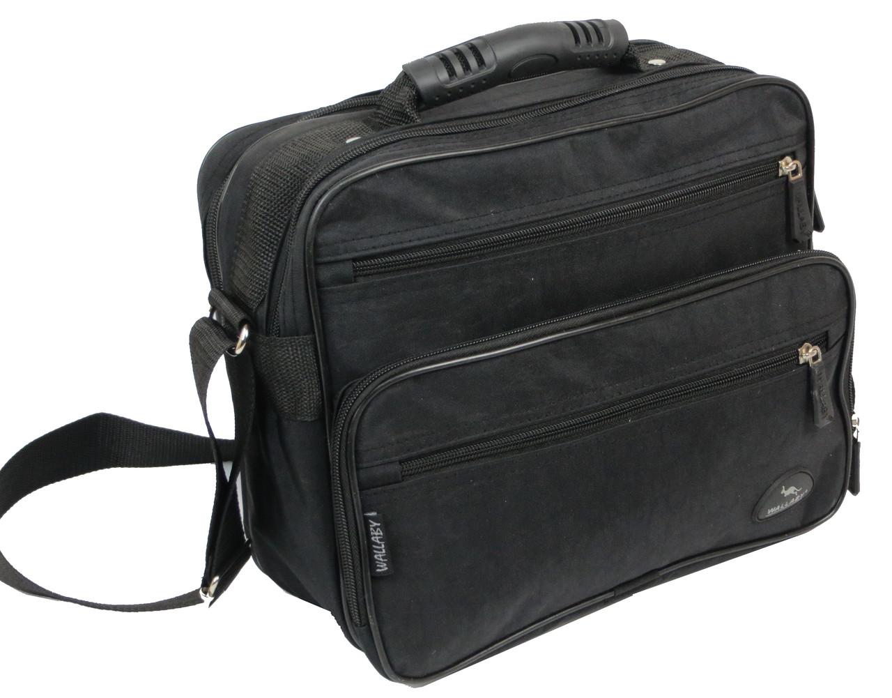 7082e6654c9f Прочная сумка мужская из жатки Wallaby 2407 black - SUPERSUMKA интернет  магазин в Киеве