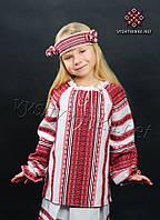 Детская вышиванка для девочки 0153