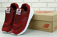 Женские кроссовки New Balance 574 Red White