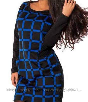 Женское платье в клетку