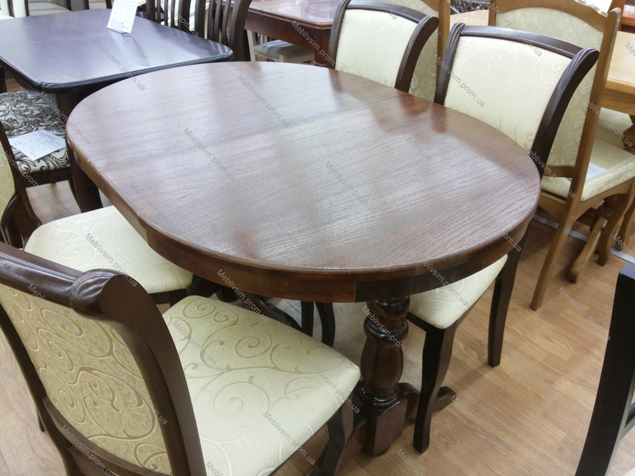 Стол овальный раскладной Говерла 2 Микс мебель, цвет  темный орех