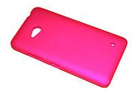 Пластиковый чехол для Microsoft Lumia 640 малиновый, фото 1