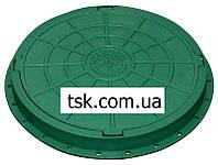 Люк садовый пластмассовый легкий с замком  (зеленый)