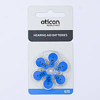 Oticon - Батарейки к слуховым аппаратам - типоразмер 675 (блистер - 6 шт.)