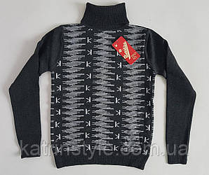 Детский свитер для мальчиков с высоким воротником