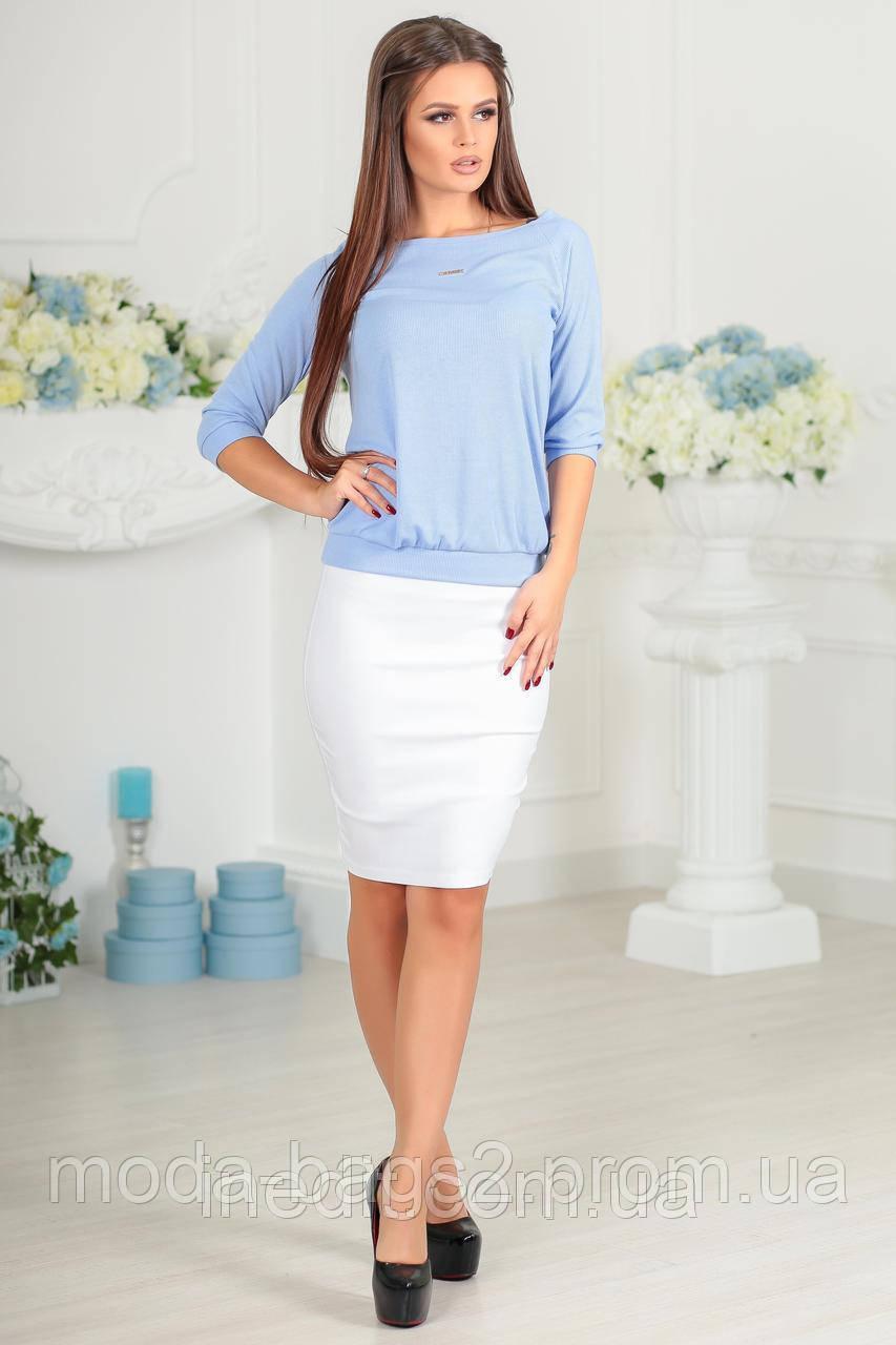 dc52781bff6 Женская юбка стрейч-коттон белая 42