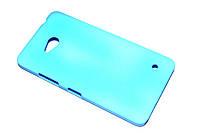 Пластиковый чехол для Microsoft Lumia 640 голубой, фото 1