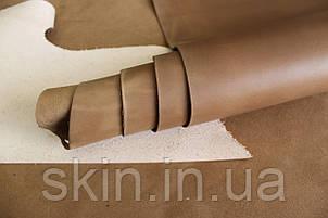 """Кожа натуральная """"Крейзи Хорс"""" для галантерейных изделий бежевого цвета, толщина 1.5 мм, арт. СК 2236, фото 2"""