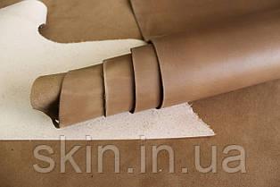 """Натуральная кожа """"Крейзи Хорс"""" бежевого цвета, толщина 1.5 мм, арт. СК 2236"""