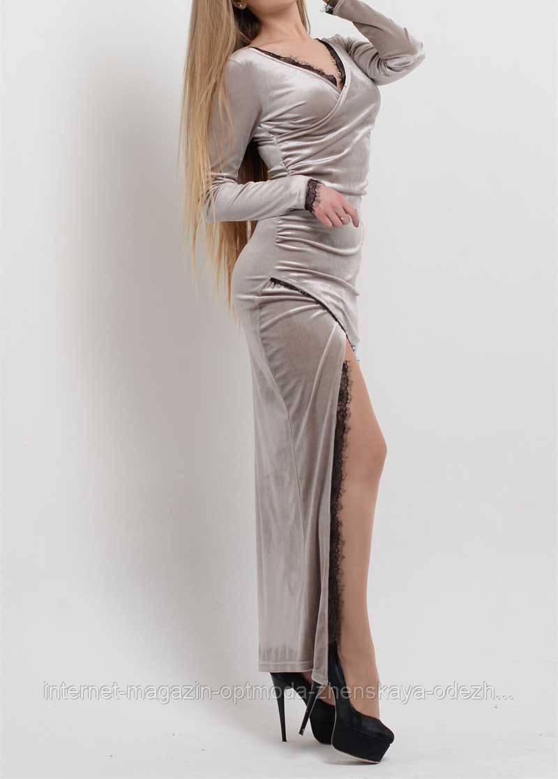 Женское длинное  нарядное платье