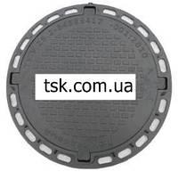 Люк садовый пластмассовый легкий № 2 с замком (черный)