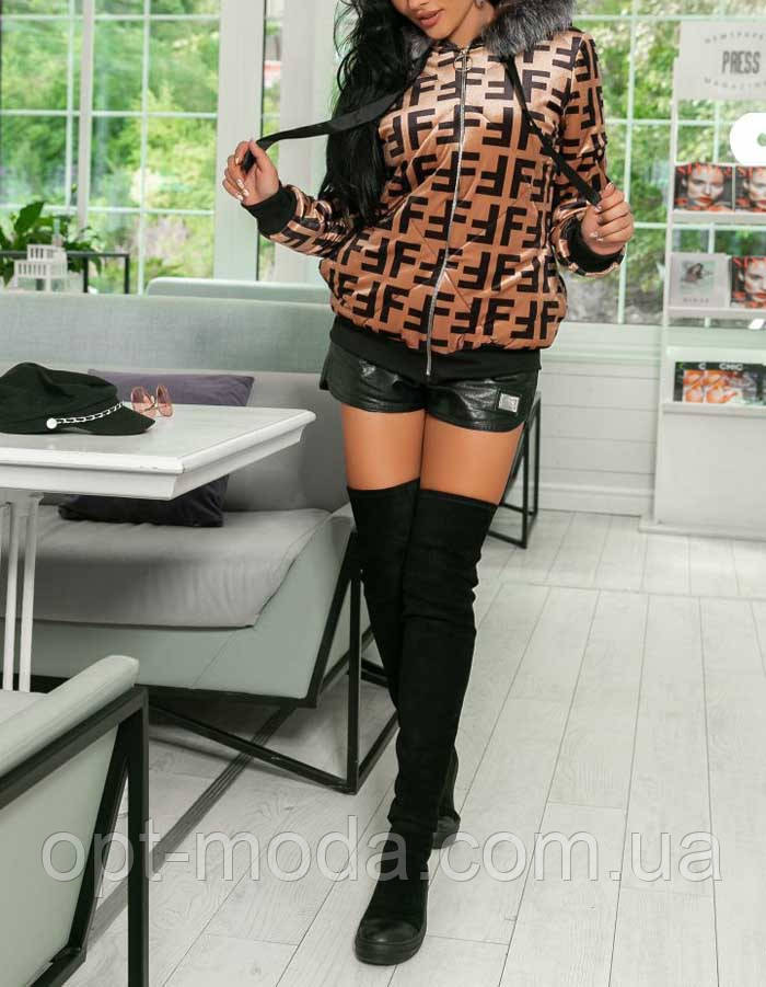 Женская куртка бархатная