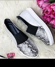Туфли-слипоны  женские, размер:36-41, фото 2