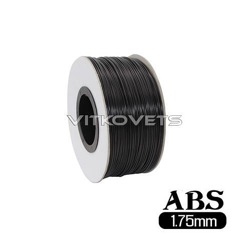 Пластиковая нить ABS, 1.75 мм, 1 кг (черный), фото 2