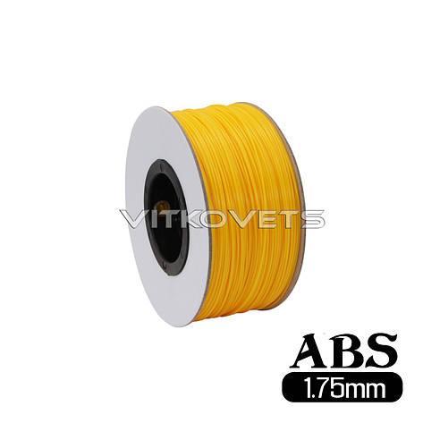 Пластиковая нить ABS, 1.75 мм, 1 кг (желтый), фото 2
