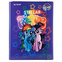 Папка для труда с наполнением  Kite My Little Pony LP19-213 A4 на резинке эконом