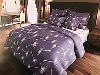 Комплект постельного белья евро Одуванчики серо-белые