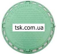 Люк садовый пластмассовый легкий № 2 с замком (зеленый)