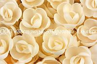 Вафельные цветы - Розы Чайные большие 56 шт