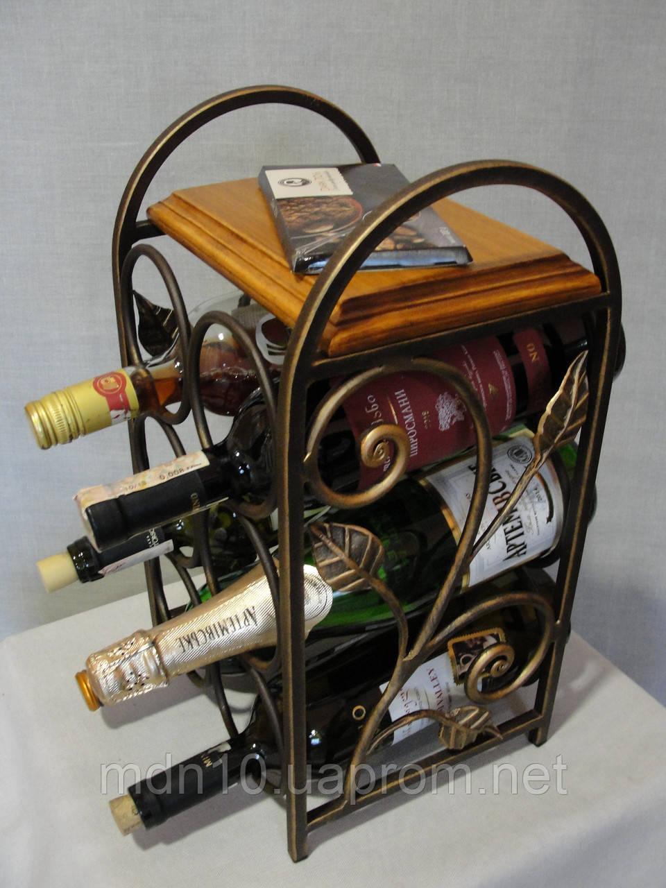 """Подставка для вина """"Love is"""", на 6 бут. (арт. MS-PVK- 052-6), фото 1"""