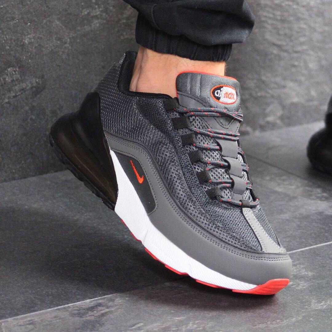 a213f0e5 Кроссовки мужские Nike 7574 темно Серые купить не дорого в интернет магазине  - Интернет-магазин