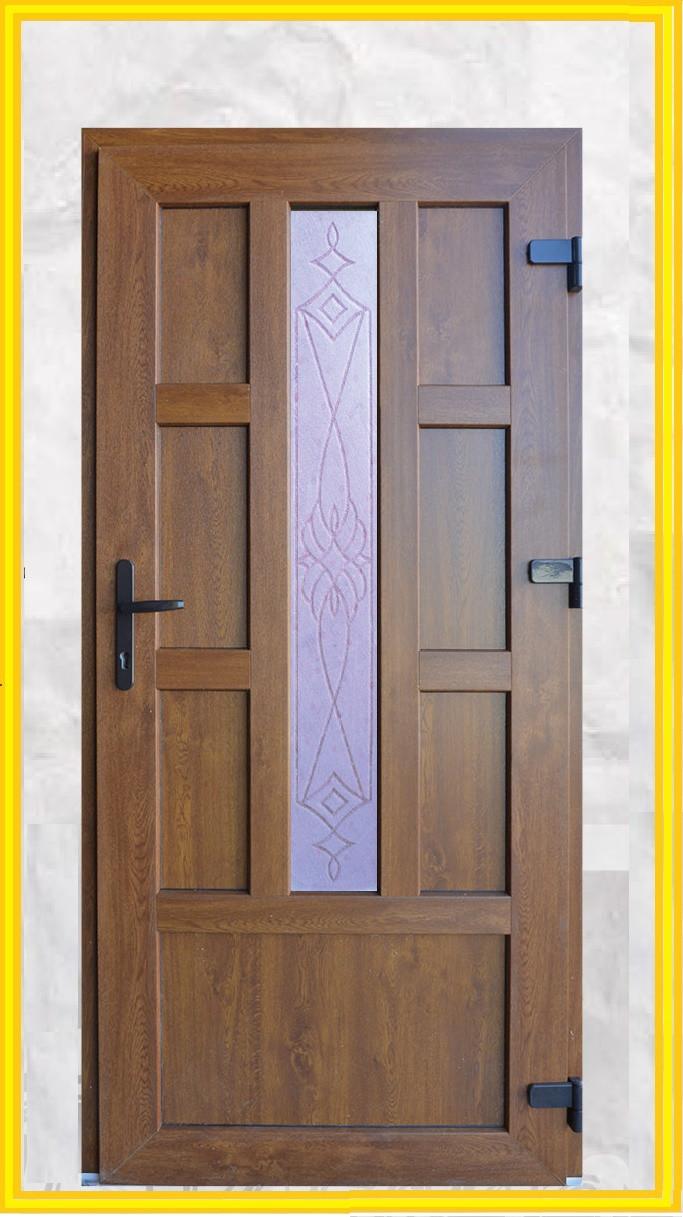 Двері вхідні металопластикові з вікном
