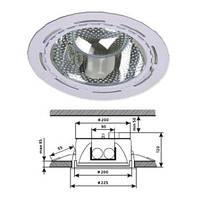 Светильник потолочный DELUX CF-226 матовый хром