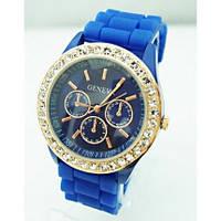 Часы женские GENEVA ЖЕНЕВА со стразами Синие
