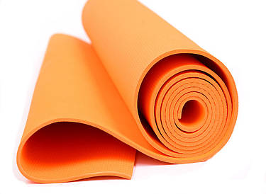 Мат для йоги EVA 6-цветов 173см. (0380) Оранжевый