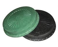 Люк пластмассовый легкий №1 с замком (черный)