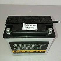 Аккумулятор мото 6V 18А (заливной), фото 2