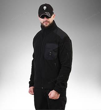 Тактическая флисовая кофта «черный»