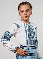 Рубашка для девочки с тканой нашивкой 0141, фото 1