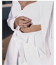 """Женский брючный костюм-тройка """"RIKKA"""" с удлиненным пиджаком (4 цвета), фото 3"""