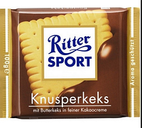 Шоколад Ritter Sport Риттер Спорт Печенье, 100 г. Германия