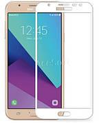 Защитное стекло Full Cover Samsung J7 prime / G610 Белое