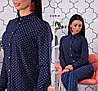 Рубашка, ткань: супер софт (мелкий горох) Размер: С(42), М(44), Л(46). Разные цвета (6248), фото 2