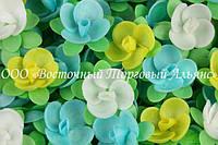 Вафельные цветы «Пион на трилистнике» 180 шт