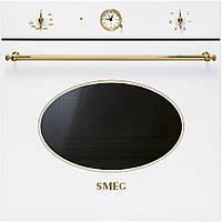 Многофункциональный духовой шкаф Smeg SF800B белый + позолота