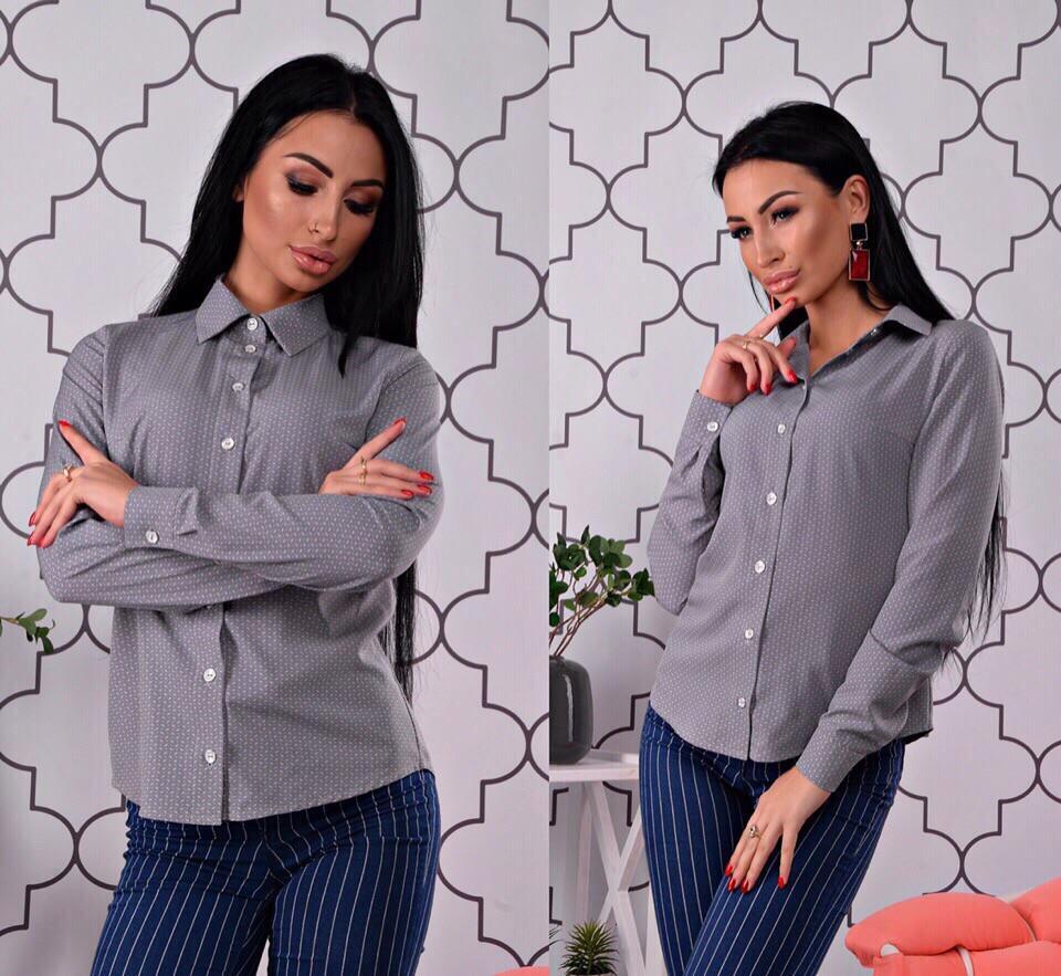 Рубашка, ткань: супер софт (мелкий рисунок) Размер: С(42), М(44), Л(46). Разные цвета (6249)