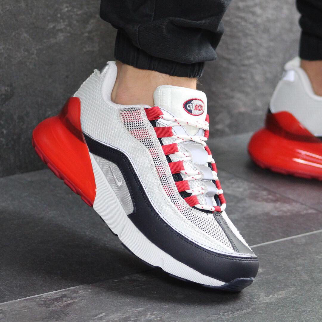 584a589164e7b Кроссовки демисезонные мужские Nike 7570 Белые с красным купить не дорого -  Интернет-магазин