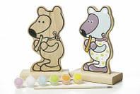 """Игра-раскраска """"Мишка"""" деревянная игрушка роспись 13852"""